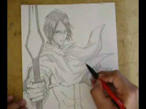 Bleach Pencil Drawing Drawing Ishida Uryuu / Bleach