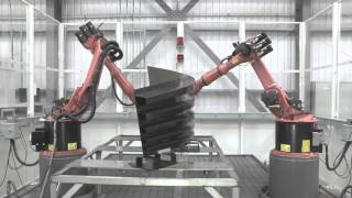 Robotic Inspection system for complex composite structure
