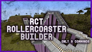[Contraption] RCT-Style RollerCoaster Builder w/ Only 9 Commands!