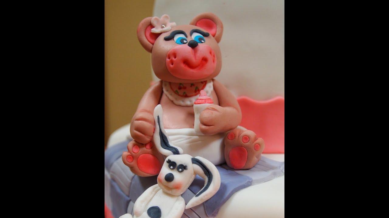 Como hacer una osa oso beb de fondant para tarta de - Como hacer un estor enrollable paso a paso ...