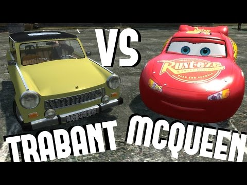 Trabant vs Lightning Mcqueen GTA IV [DOWNLOAD LINK] #Mcqueen