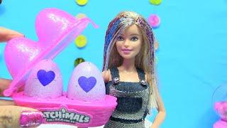 Búp Bê Barbie Chơi Trứng Nở Hatchimal - Làm slime - Nhuộm Tóc Búp Bê [Chị Bí Đỏ] Video đặc biệt