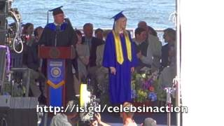 The Amazing Spider-man 2 Peter Parker Hollywood Kissed Girlfriend Gwen At Graduation Ceremony