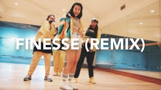 Download Lagu Finesse (Remix) - Bruno Mars ft. Cardi B (Dance Cover) | Hannah Kathleen w/ Allstars Gratis STAFABAND