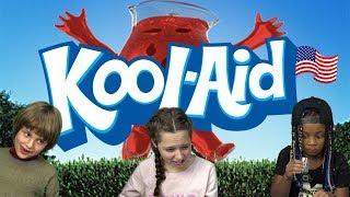 German Kids try Kool-Aid Drinks from the US