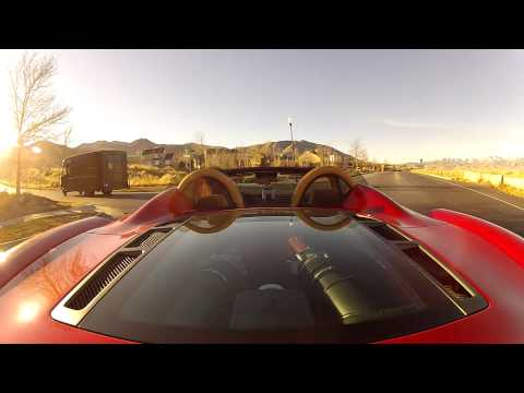 Ferrari 430 Spider Drive with GoPro Hero 2 Cameras
