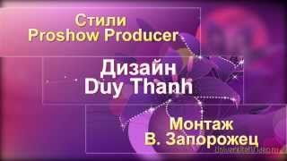Стили Duy Thanh Proshow Producer