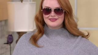 Isaac Mizrahi Live! 2-Ply Cashmere Sweater Tunic on QVC