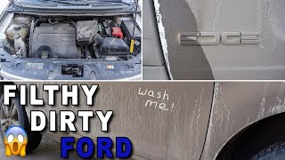 Deep Cleaning a FILTHY Ford Edge | Satisfying Interior and Exterior Car Detailing!