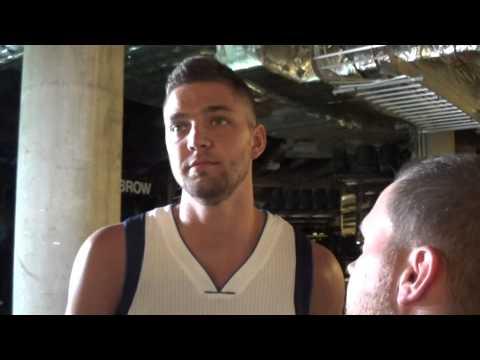 Dallas Mavericks Media Day 2014 Chandler Parsons