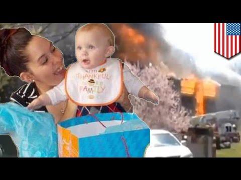 Ibu lompat dari gedung untuk menyelamatkan anak dari kebakaran - Tomonews