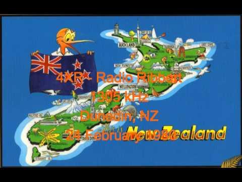 NZ Radio - 4XR - Radio Ribbert - 1305 kHz - Dunedin, NZ - 24 February 1980