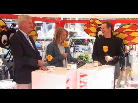 Carl Bildt (M) och Anders Borg (M) på Expressens valscen