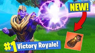 *NEW* THANOS GAMEPLAY & GAUNTLET In Fortnite Battle Royale!