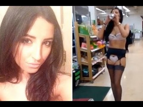 NekNomination Latest: Rebecca Dagley Does 'NekNominate' STRIPS and Downs Pint of Lager in Asda