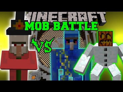 INVINCIBLE MAGE VS MUTANT SNOW GOLEM & LAPIS GOLEM - Minecraft Mob Battles - Mods
