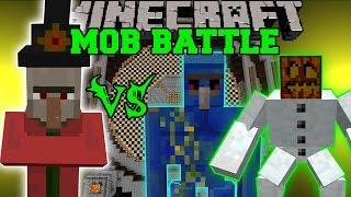 INVINCIBLE MAGE VS MUTANT SNOW GOLEM & LAPIS GOLEM - Minecraft Mob Battles - Mods