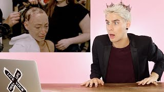 HAIRDRESSER REACTS TO AMERICAS NEXT TOP MODEL MAKEOVERS PT. 9 |bradmondo