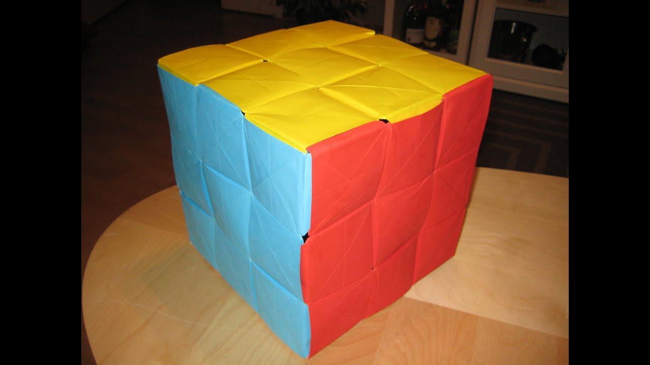 Как сделать кубик из картона руками
