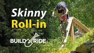 Backyard MTB Drop with Steep Roll in! | Build & Ride