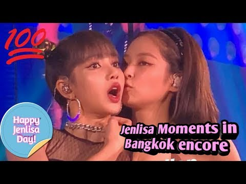 Jenlisa Moments in Bangkok encore (Last world tour of Blackpink )