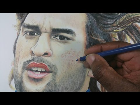 Drawing MS Dhoni - CWC 2015 Cricketers #1