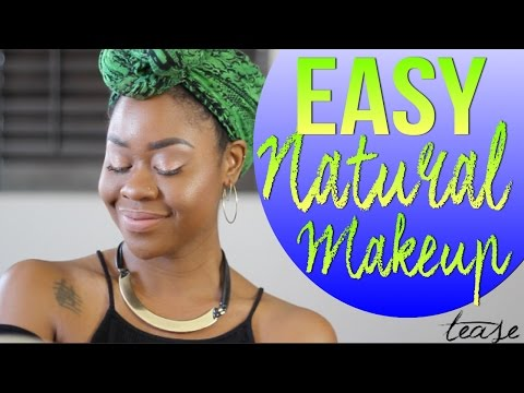 A SIMPLE SUMMER MAKEUP LOOK In 7 MINS- NATURAL MAKEUP FOR BLACK WOMEN