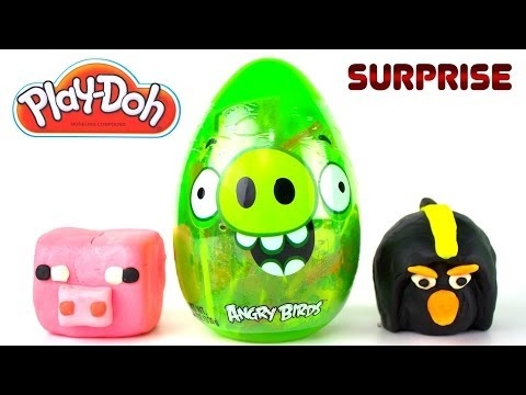 Opening A Giant Angry Birds Pig Egg, Minecraft Blind Bag And More! video