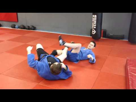 Near Leg Scissors Throw to Leglock-Sambo Image 1