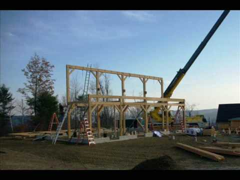 Timber Frame Barn Raising in Vermont