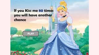 How to play Princess Cinderella Kissing Prince game | Free online games | MantiGames.com
