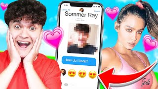 CATFISHING My Little Brother PRETENDING to be his CRUSH (FaZe Jarvis & Sommer Ray)