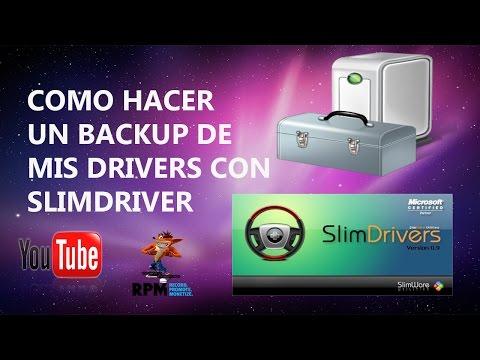 Como Hacer Un Backup De Mis Drivers Con SlimDriver