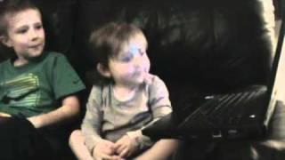 Baby singing Boom Boom Pow
