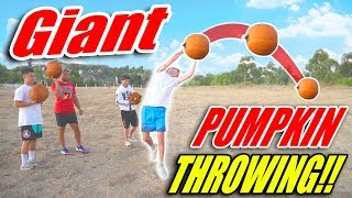 GIANT Pumpkin Throwing Competition!!