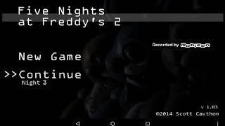 Я прохожу игру пять ночей Фреди 2 ночь 3