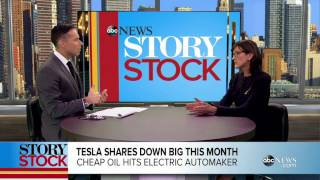 Tesla Shares Down Big This Month Video   ABC News