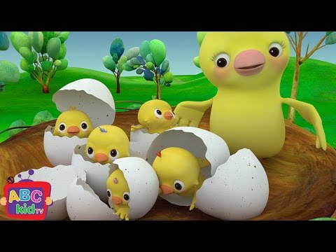 Five Little Birds | Nursery Rhymes & Kids Songs - ABCkidTV