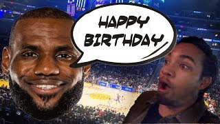 Super Duper Birthday! Lakers VS Bucks LIVE (short vlog w/ Lebron)