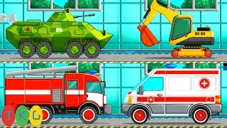 Xe Xúc Đất, Cần Cẩu - Xe Tank - Xe Cứu Hỏa - Cứu Thương   Dịch Vụ Rửa Xe   TopKidsGames (TKG) 331