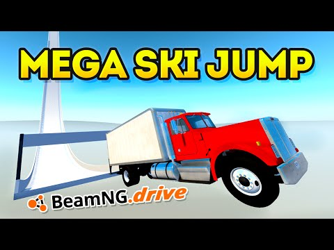 THE MEGA SKI JUMP! (BeamNG Drive Funny Moments)