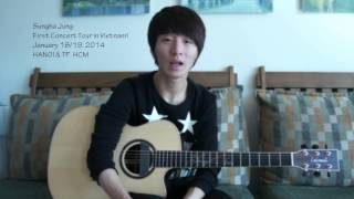 Sungha Jung speaks about his LIVE in Vietnam 2014 January!!