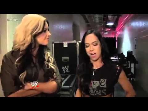 Kaitlyn And Aj Lee Get Into An Argument Wwe App Exclusive 2013 video