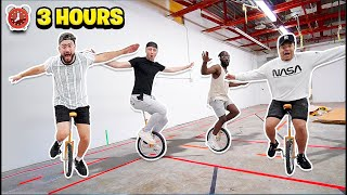Last To Fall Off The Unicycle Wins $1000 - Challenge