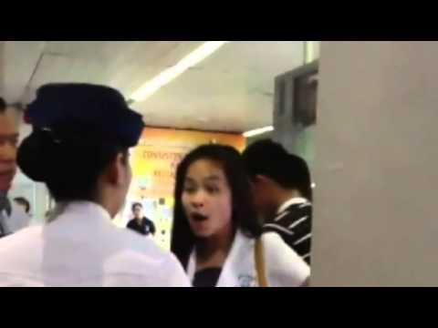 RUDE Girl Passenger Humiliate a Lady Guard