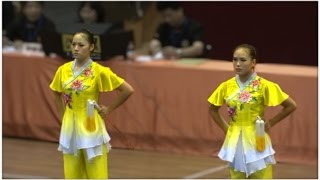 2011 China National Wushu Championships, Women Duilian, Jiangsu Team 江苏队 沈清, 张洋洋