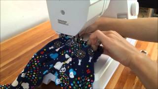 Sewing on top of elastic leggings waistband :Brindille & Twig video
