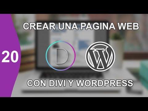 CREAR UNA PAGINA WEB DESDE CERO EDICION DIVI PARTE 20