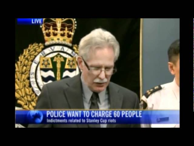 Vancouver Police Press Conference - 60 Riot Charges Recommended