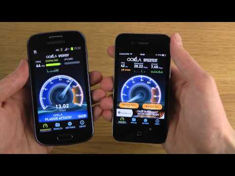 Samsung Galaxy Trend vs. iPhone 4 iOS 7.0.3 - Internet Speed Test